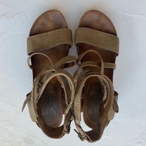 Sage Green Miz Mooz New York Strappy Sandals